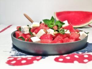 Salade pasteque feta menthe - la cuisine du moulin